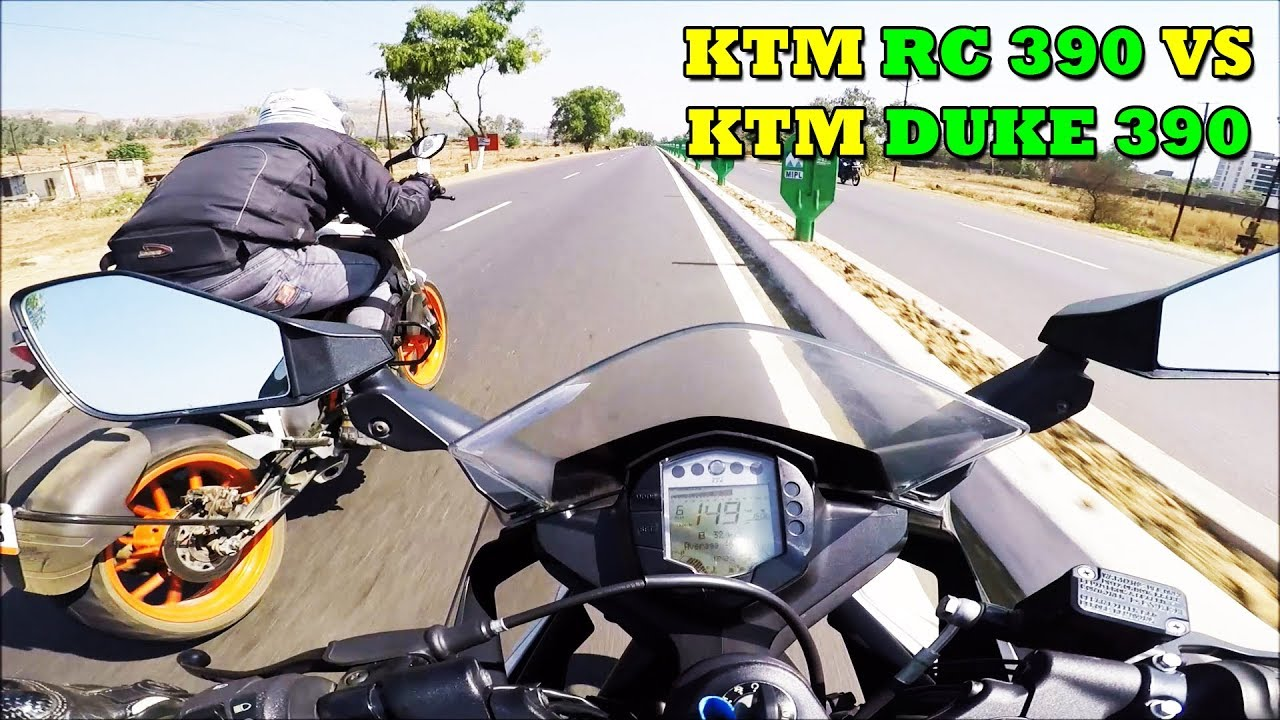 When You Think You Are Fast And This Happens Ktm Rc 390 Vs Duke 390