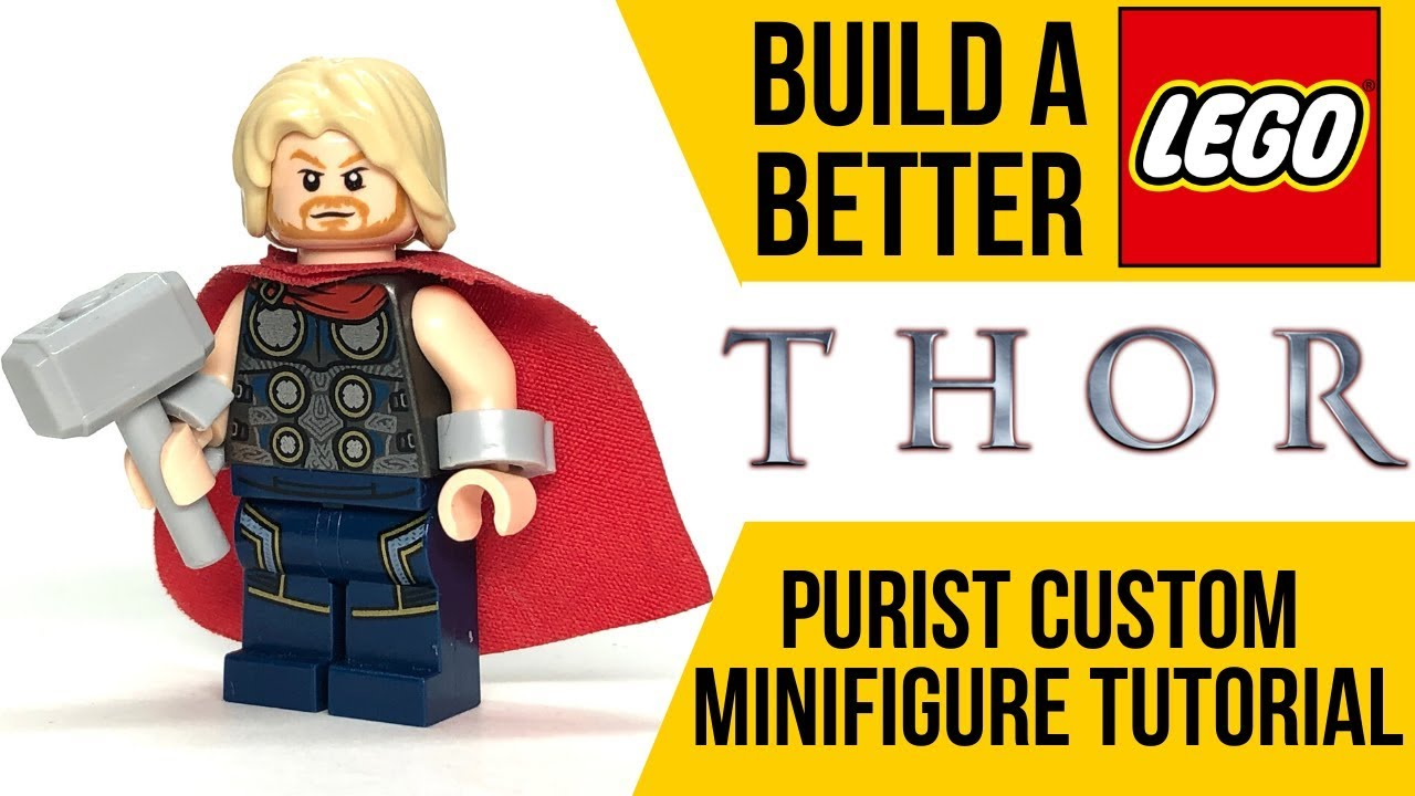 Endgame Thor With StormBreaker And Mjolnir Unofficial Marvel Lego Figure