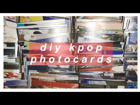 ✹ diy kpop photocards ✹ (( 300 photocards for under $8 ))