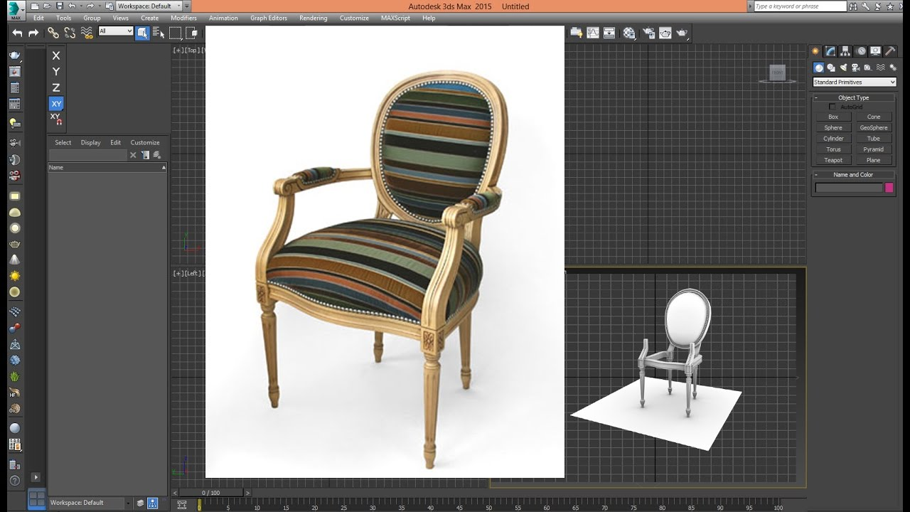 3ds Max Tutorial Model Chair Classic NEW Step 01 YouTube
