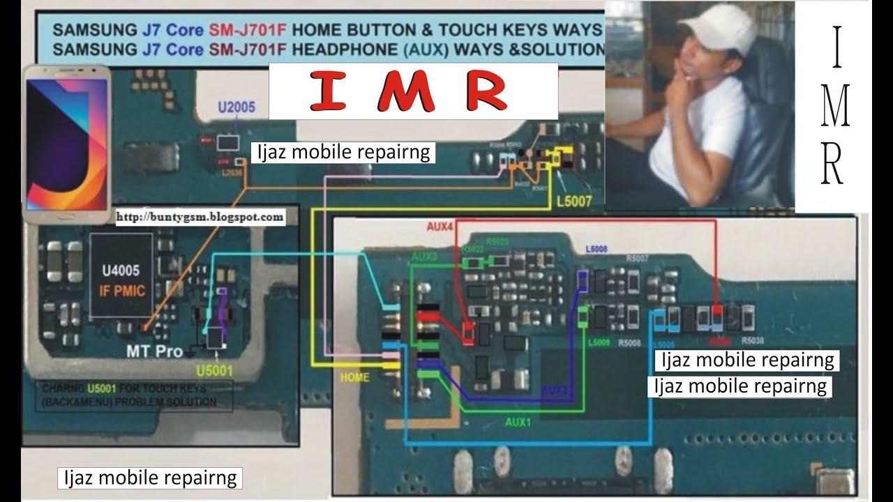 SAMSUNG J7, J700, J710F SIM, HOME BUTTON, TOUCH KEYS WAYS AND HEADPHONE  WAYS SOLUTION