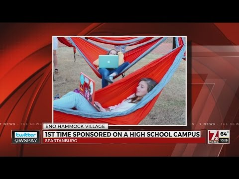 First high school ENO hammock lounge in US at Spartanburg Day School