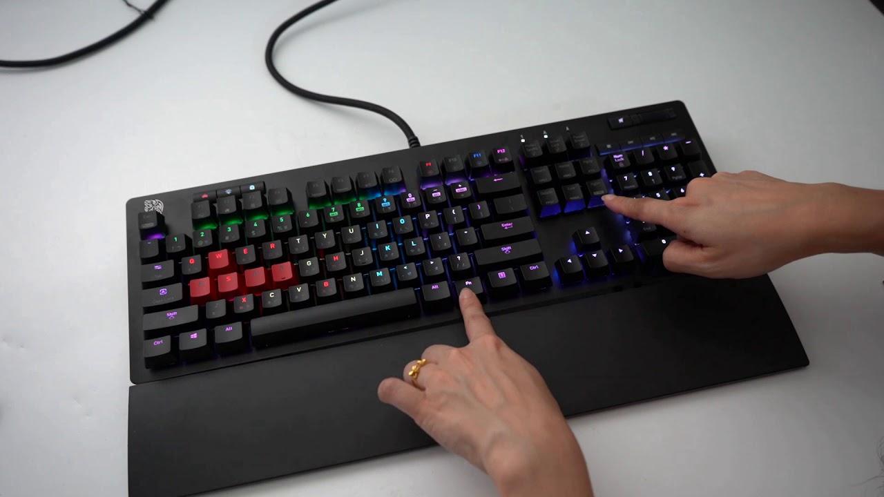 【原價屋】曜越海王星菁英版NEPTUNE Elite RGB 機械式鍵盤~開開箱! - YouTube