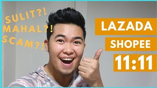 NAG ONLINE SHOPPING AKO! LAZADA AT SHOPEE 11:11 SALE | CANDIYEY
