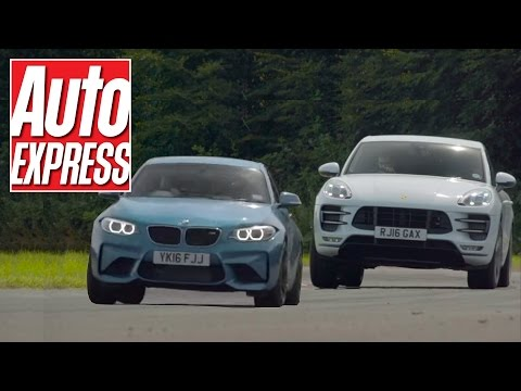 BMW M2 vs Porsche Macan Turbo: odd couple fight it out on track