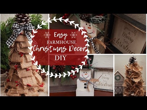 Easy Farmhouse Christmas Decor DIY | Christmas Crafts 2019