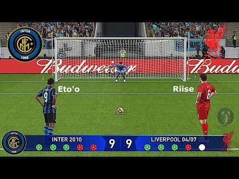 PES 2019 • Inter 2010 🆅🆂 Liverpool 2004/07 Champions League (Calci di Rigore) • Patch [Giù]