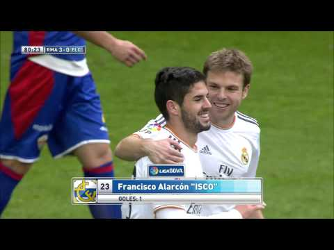 Gol de Isco (3-0) en el Real Madrid - Elche CF - HD
