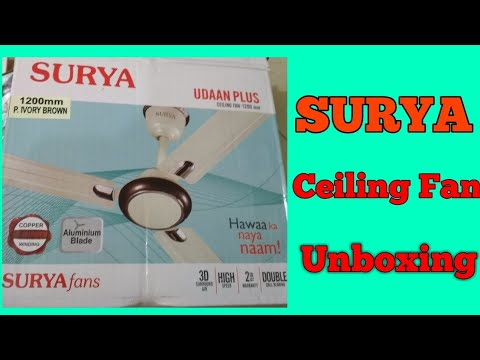 Surya ceiling fan unboxing