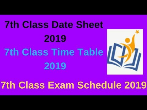 7th Class Date Sheet 2019 Steps to Download Seventh Class