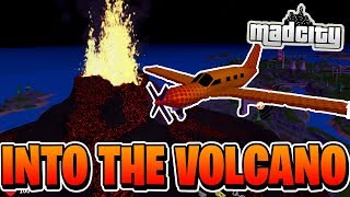 What Happens If You Fly Into The Volcano In Mad City? | ROBLOX