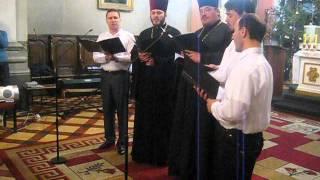 Prawosławny zespół wokalny w katolickiej katedrze św. Zofii