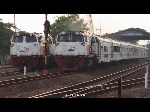 Kompilasi Kereta Api Di Jatibarang