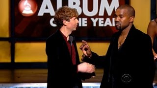 kanye west stormed the stage again when beyonce lost to beck at the grammys