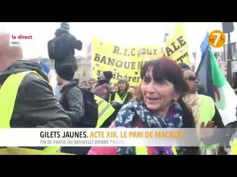 Le direct : Gilets Jaunes. Acte XIX, le pari de Macron (2/3)