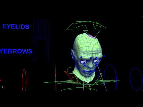 zombie bone facial animation wireframe