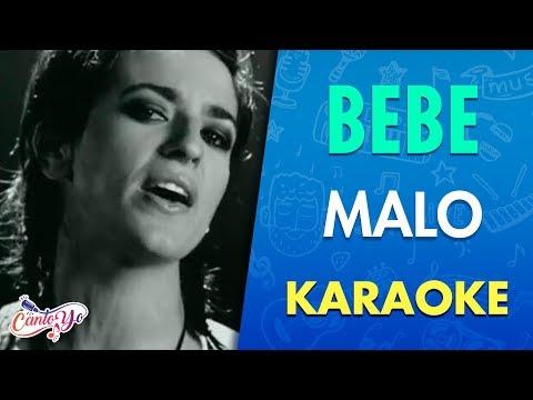 Bebe - Malo (Karaoke) | CantoYo