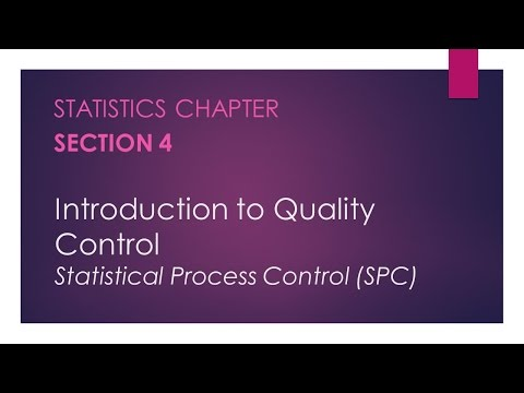 Introduction to Quality Control – Statistics Chapter, Section 4
