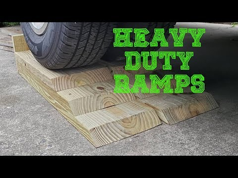 How To Make Heavy Duty Car Ramps
