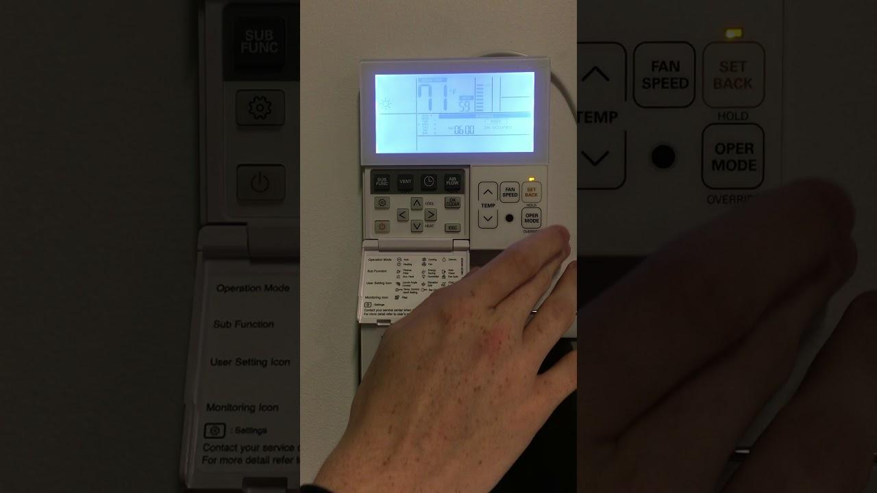 Lg Programmable Vrf Remote Controller T Stat Premtb10u