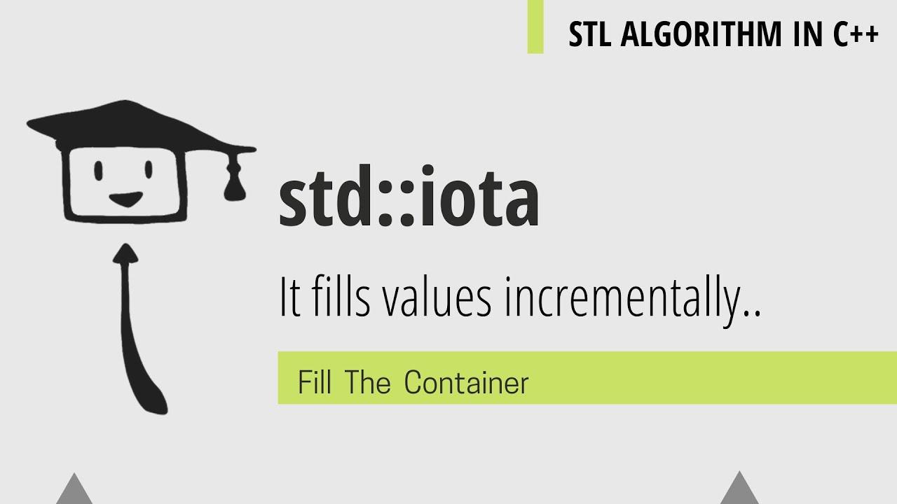 std::iota | STL ALGORITHM C++ 6