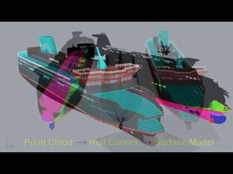 Marine Industry - Rhino3D, Laser Scanning,  Creating Hull Curves