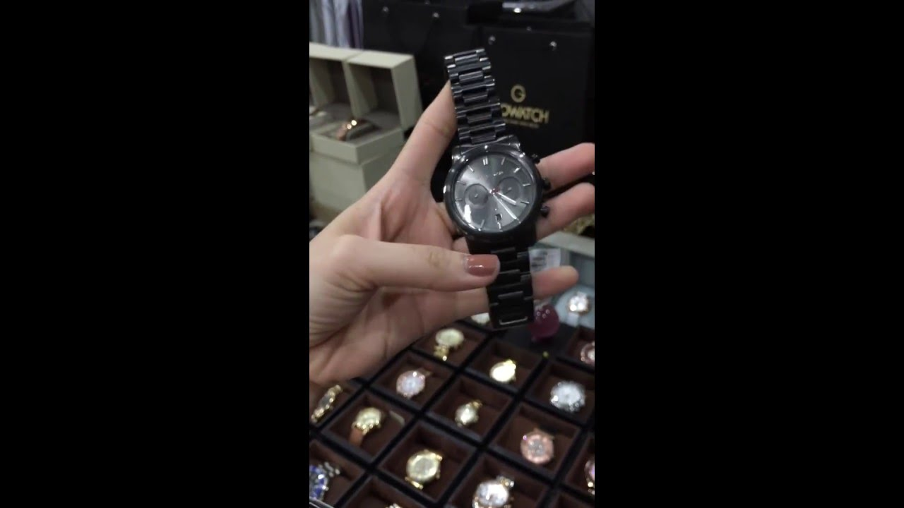 7d2e5528f2ffe MICHAEL KORS Pennant Chronograph Gunmetal Dial Gunmetal Ion-plated Men s  Watch MK8371