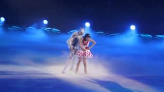 Johnny Weir and Irina Slutskaya. The Snow King. 3.I.2015 St.Petersburg