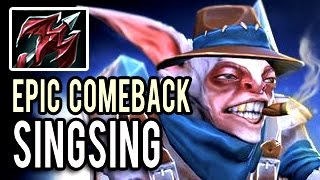 The Best COMEBACK in the WORLD by Meepo Singsing Patch 7.00 Dota 2