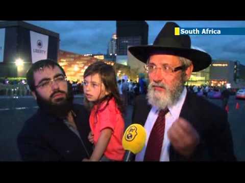 South African Jewish community celebrates Hanukkah 2013 at prestigious African mall
