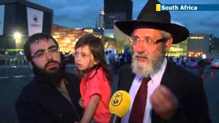 South African Jewish community celebrates Hanukkah 2013 at prestigious African mall