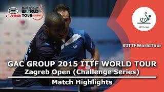 Zagreb Open 2015 Highlights: MORIZONO Masataka/OSHIMA Yuya vs ARUNA Quadri/SILVA Andre (1/2)