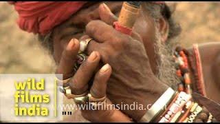 Baba smoking a chillum