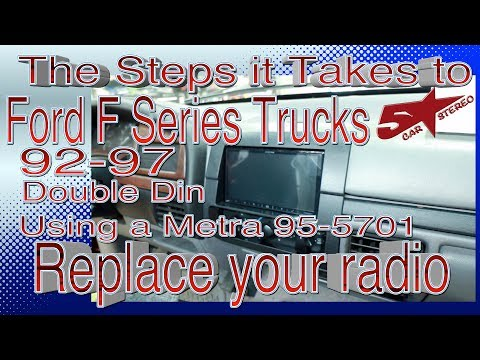 How To Put A Double Din Radio In A Ford F Series Truck 92 97