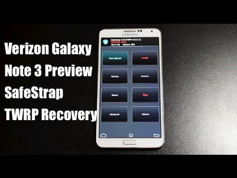 Verizon Galaxy Note 3 Safe Strap TWRP Recovery No Bootloader Unlock Needed