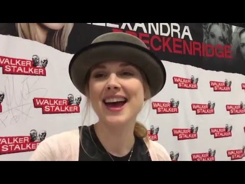 ZIMB  with Alexandra Breckenridge at Walker Stalker Con Nashville