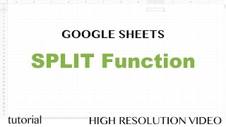 Google Sheets Split Function Tutorial Text To Columns Using A Delimiter Index Counta Importrss Youtube