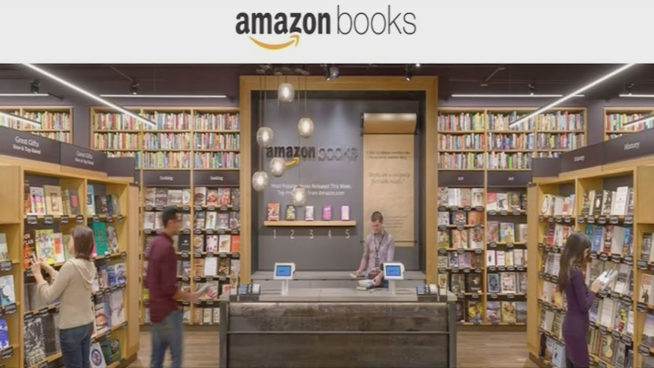 Amazon Opens Its First Physical Bookstore In Seattle Youtube