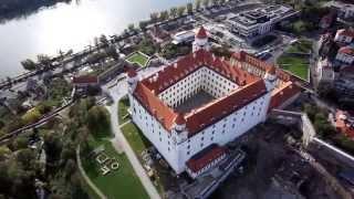 Bratislava castle aerial view
