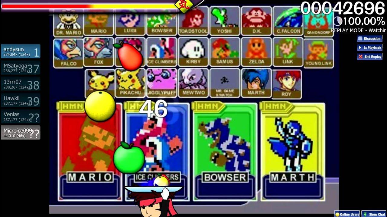 Let S Osu Catch The Beat Nintendo Super Smash Bros