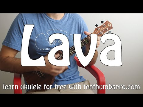 Pixar's Lava - Ukulele Tutorial - How to play easy beginner Ukulele songs