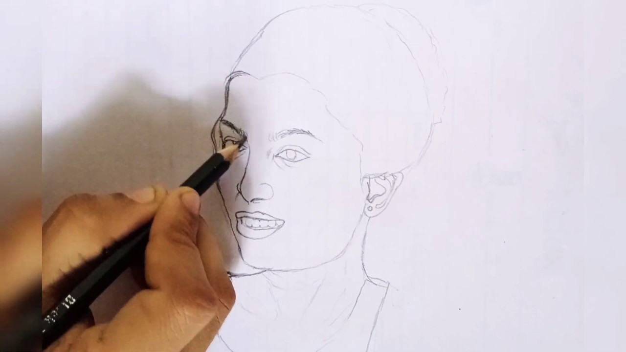DRAWING my sister... ️ - YouTube