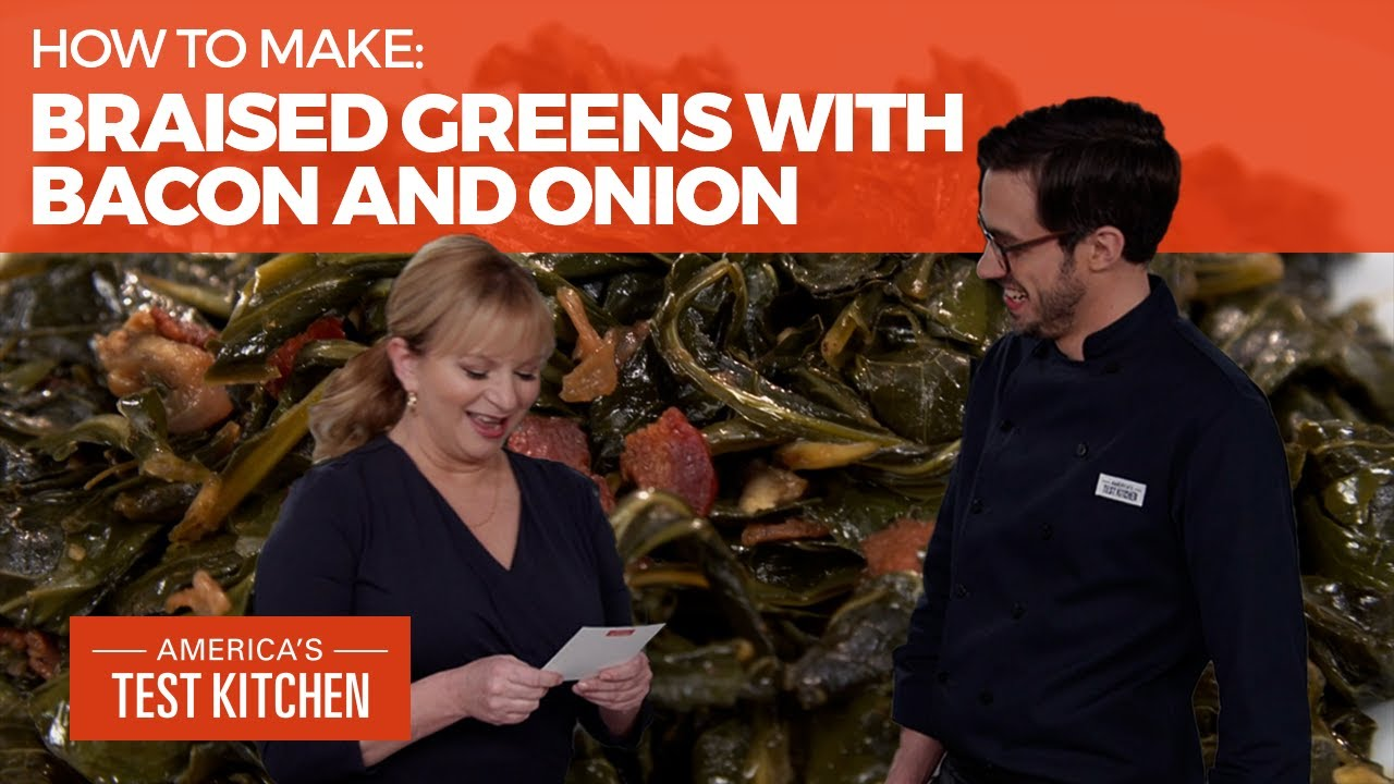 How to Make the Best Braised Greens with Bacon and Onion