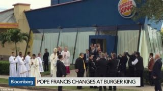A Whopper: Pope Francis Gets Changed in Burger King