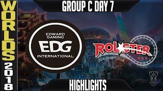 EDG vs KT Highlights | Worlds 2018 Group C Day 7 | Edward Gaming(LPL) vs KT Rolster(LCK)