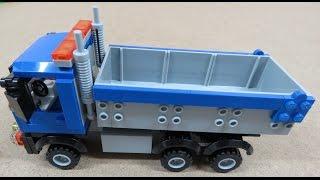 2015 Lego how to build a dump truck, excavator, conveyor belt speed build 60075