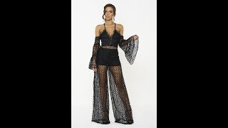 Honey Couture AUBREY Black Jumpsuit