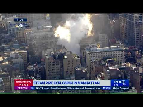 Air 11 video shows steam pipe explosion in Manhattan