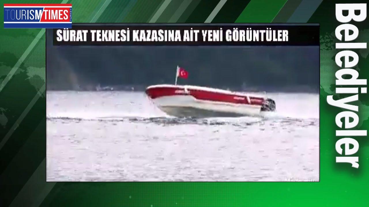 Amasra'da yaşanan sürat teknesi kazasına ait yeni görüntüler