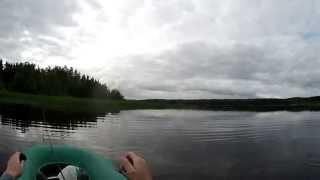 Старый проверенный поппер (видео-отчет) рыбалка июль 2015 Ловля щуки на юзури 3d поппер
